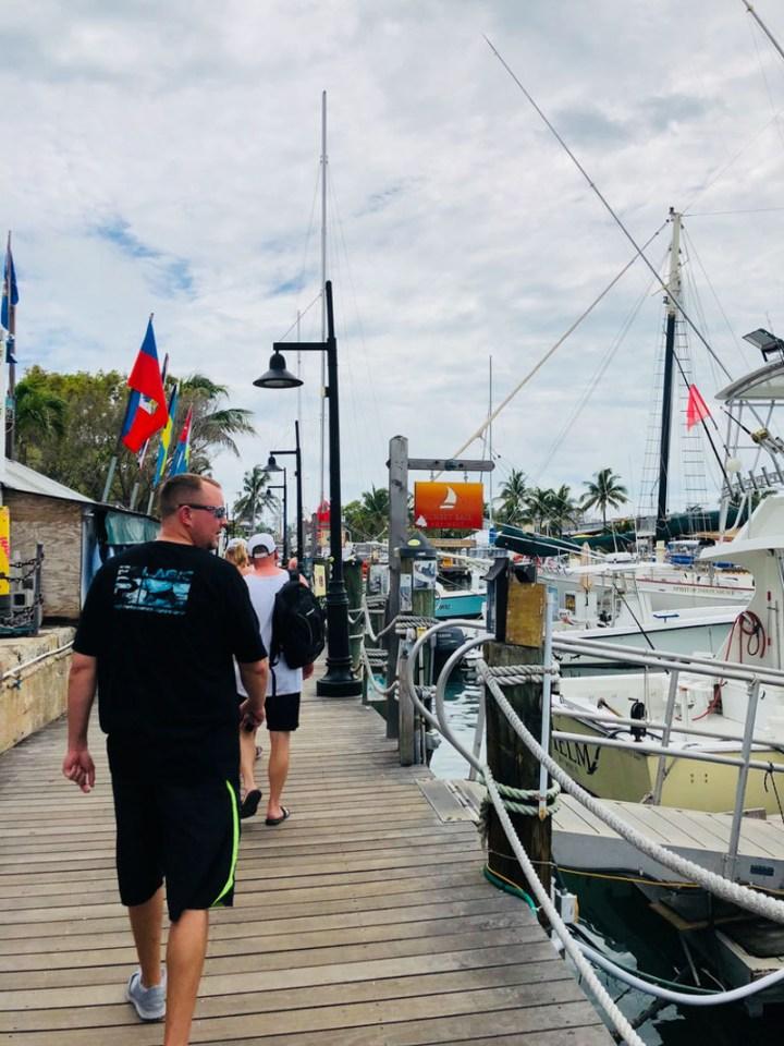 Walking around the docks