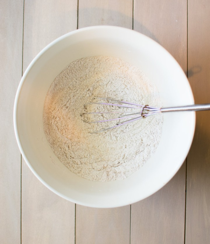 Dry ingredients in bowl