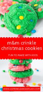 M&M crinkle christmas cookies pin