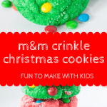 M&M crinkle christmas cookies pin