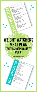 Weight Watchers Meal Plan Pin Image