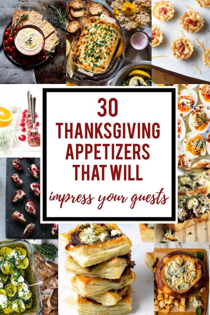 Thanksgiving Appetizers Pin Image