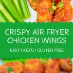 Hot Garlic Air Fryer Chicken Wings Pin 3