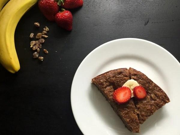 Paleo strawberry banana bread