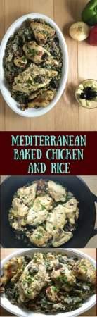 Mediterranean Baked Chicken and Rice http://asprinklingofcayenne.com/mediterranean-baked-chicken-and-rice/