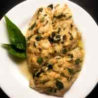 Pan Seared Grouper With Basil Brown Butter Sauce