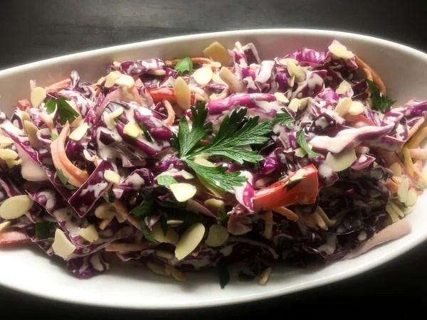 red cabbage cole slaw recipe