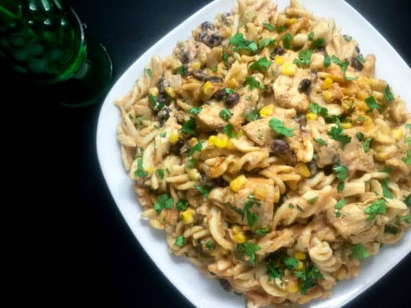 Gluten Free Chicken Enchilada Pasta   https://asprinklingofcayenne.com