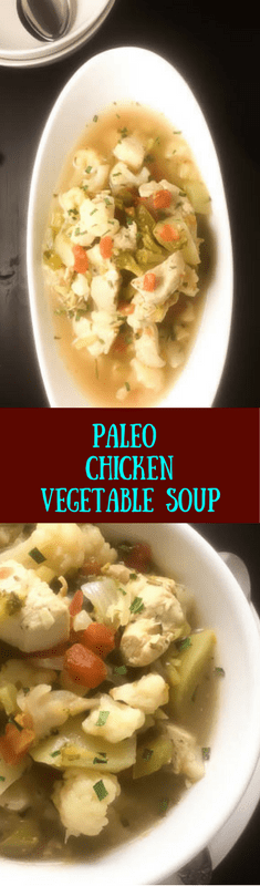 Paleo Chicken Vegetable Soup | https://asprinklingofcayenne.com