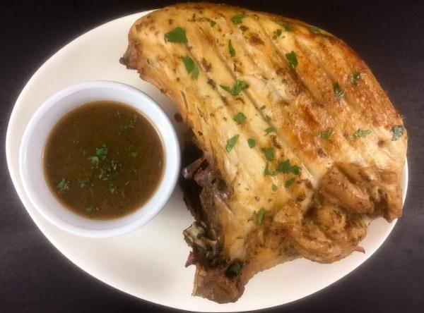 Whole southern roasted turkey breast with grain free gravy. | http:asprinklingofcayenne.com