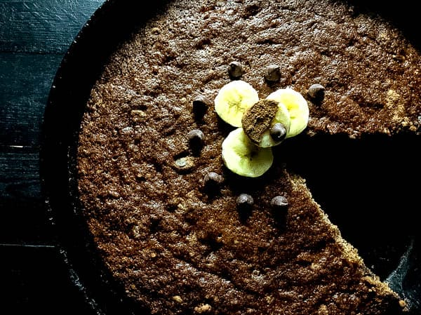 Grain Free Skillet Chocolate Chip Banana Bread | https://asprinklingofcayenne.com