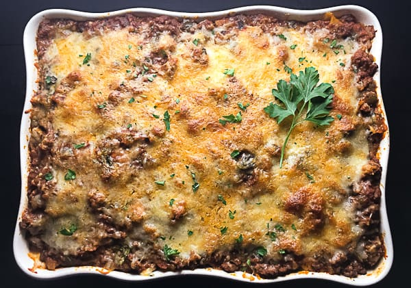 Gluten Free Baked Ziti With Spinach and Mushrooms.   https://asprinklingofcayenne.com