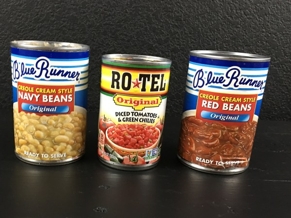 Blue Runner Creole Red & Navy 'White' Beans & Rotel Tomatoes & Green Chilies for Creole Red & White Bean Dip. | http://asprinklingofcayenne.com