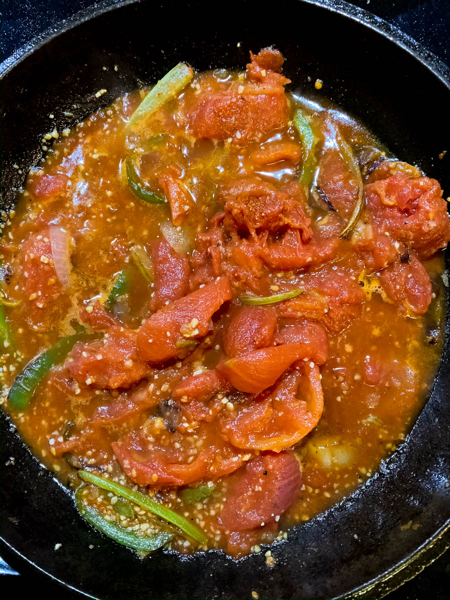 Seasoned tomato sauce topping for meatloaf.