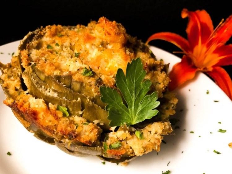 Gluten Free Cajun Shrimp Stuffed Artichokes for Best Seafood Lent Recipes