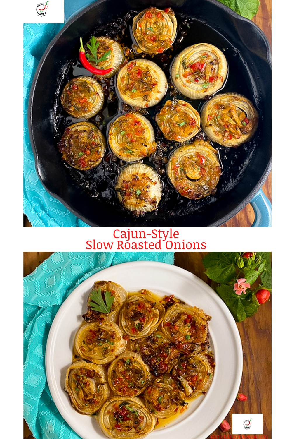 Cajun Style Slow Roasted Onions Pinterest Pin