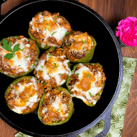 Beef Stuffed Bell Peppers With Tomato Sauce