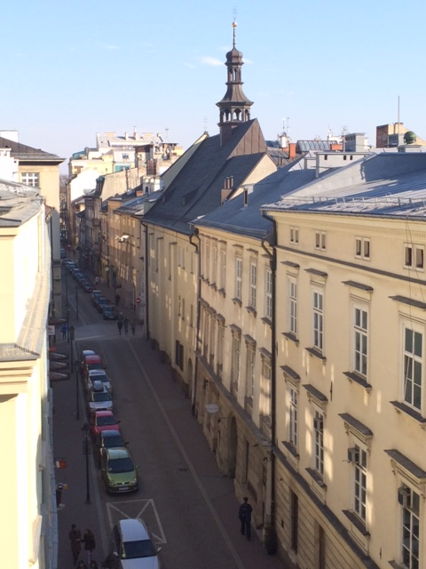 View from our Krákow Hotel