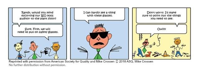 Mr. Pareto Head and ISO 9001 audit