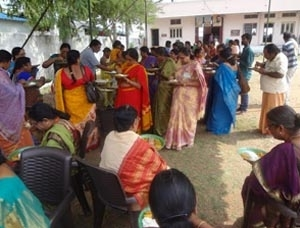 Nithya Annadanam (Free Food Distribution) is conducted to atleast 50 people every day.