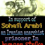 Solidarty with #Soheil_Arabi, an Iranian #Anarchist who is in jail for the past 4 years and on hunger strike for last 33 days in #hunger_Streik