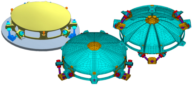 Spacecraft CAD and FEA Mesh