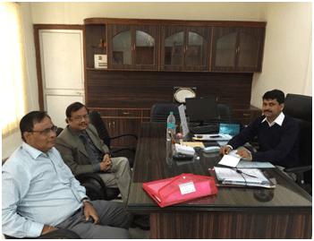 Sri D.K.Samantray, MD/ASRL and Dr. Pramod Kumar Meherda, IAS, RDC, Sambalpur conducting meeting on 18.12.14 for Angul-Sukinda new rail-line project. Sri D.K.Samantray, MD/ASRL meeting Sri C.J.Venugopal, IAS Principal Secretary to Govt., Home Department, Govt. of Odisha on 20.12.14.