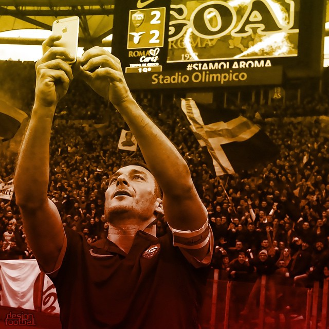 Francesco Totti's selfie - AS Roma