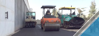 The end of the third part of the asphalt work (1)