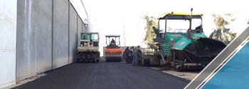The end of the third part of the asphalt work (2)