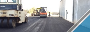 The end of the third part of the asphalt work (20)