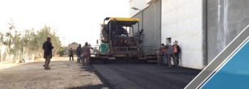 The end of the third part of the asphalt work (8)