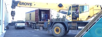 The arrival of last shipment of factory equipments (13)
