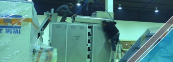 The arrival of last shipment of factory equipments (14)