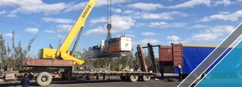 The arrival of last shipment of factory equipments (3)