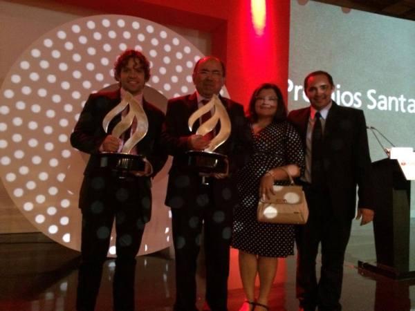 Comitiva da Ufersa durante a cerimônia de anúncio dos vencedores do Prêmio Santander Universidades 2014, em São Paulo | Crédito: Cedida