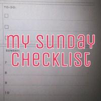 my sunday checklist