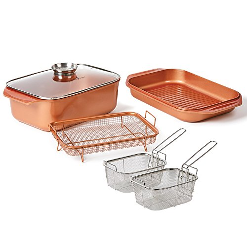 12 Qt 14 In 1 Multi Use Copper Chef Wonder Cooker With