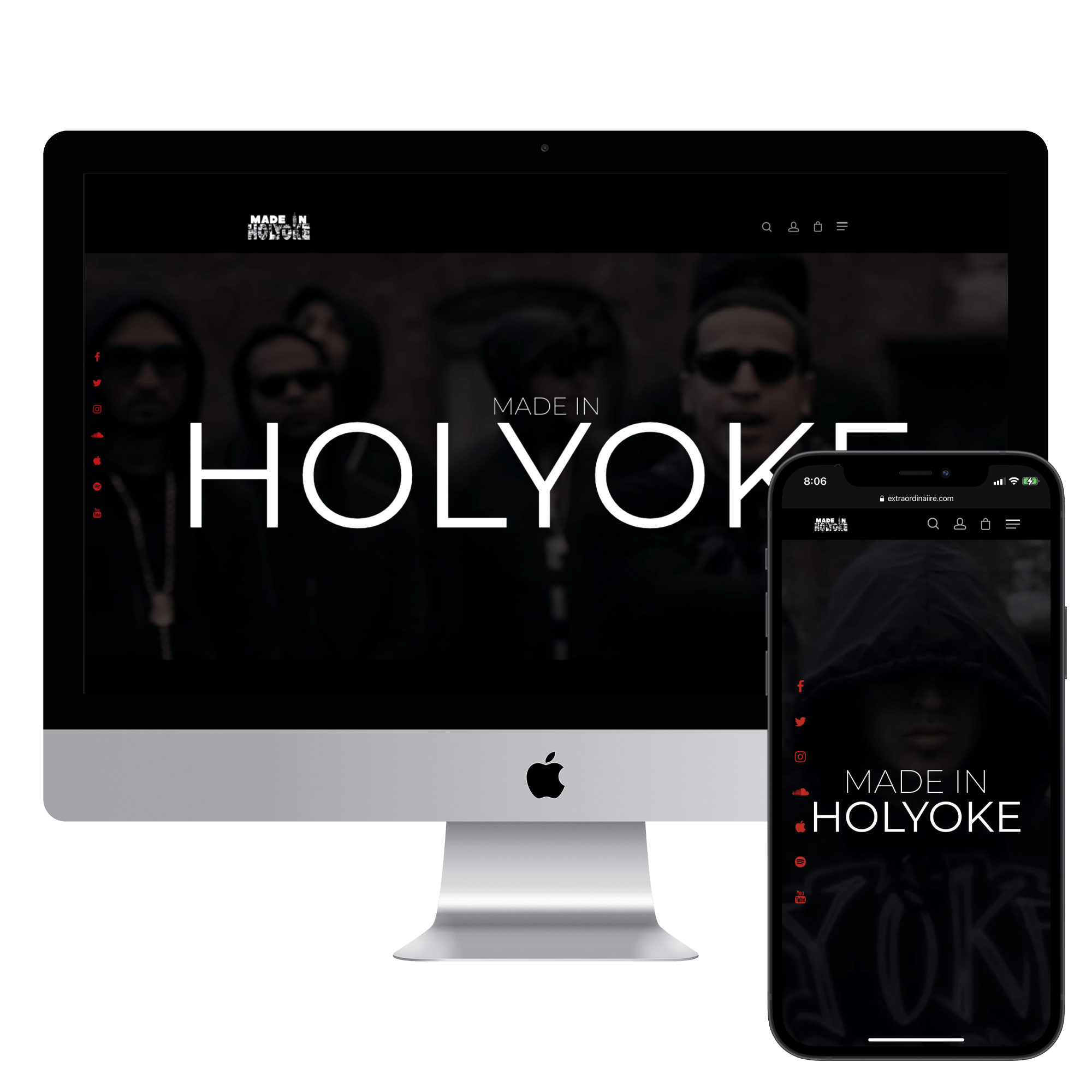 Device mock up for clothing company