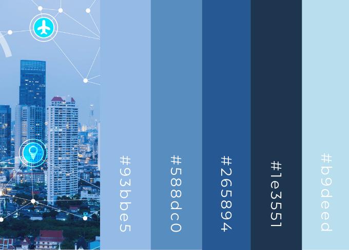Blue Shades Color Palette
