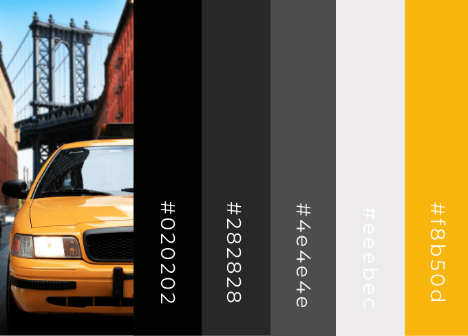 Color Palette Inspired By A Taxi Cab
