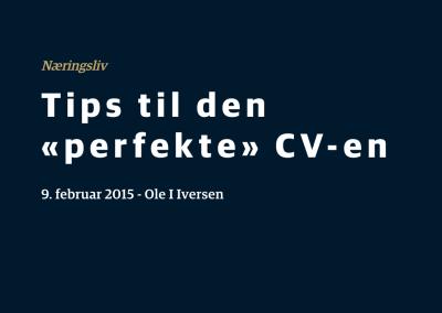 Les CV-tips fra Ole I. Iversen i Assessit