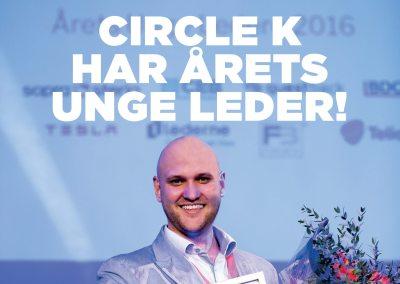 Circle K har Årets Unge Leder!
