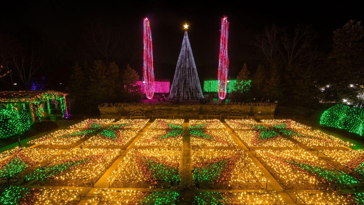 holiday light shows glow with seasonal