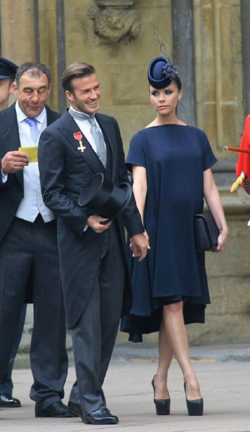 David dan Victoria Beckham di pernikahan Pangeran William dan Kate Middleton
