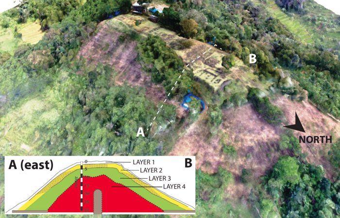 Gunung Padang diperkirakan memiliki empat lapisan | Foto: