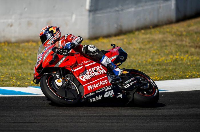 Penampilan Andrea Dovizioso pada balapan MotoGP Spanyol 2019, Minggu (5/5/2019).