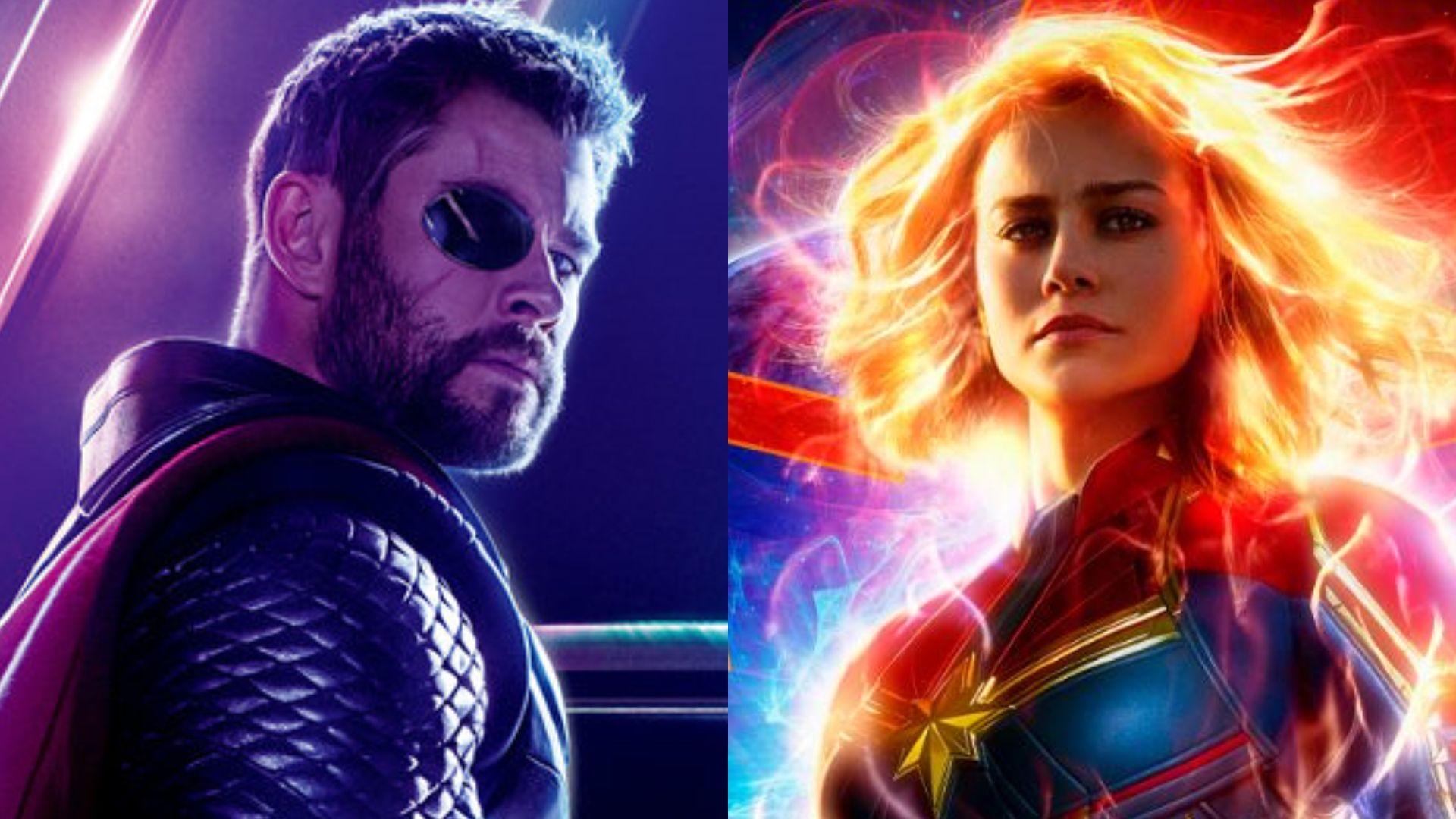 antara thor dan captain marvel, siapa superhero yang lebih kuat