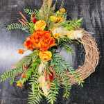 Autumn Door Wreath By Trebella Events Llc