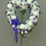 White Purple Open Heart In San Jose Ca Valley Florist